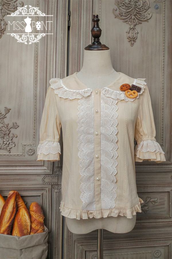Miss Point ~Chocolate Daily Built-in Lolita Blouse -Pre-order