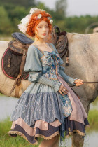 Withpuji ~Letters and Poetry Oil Painting Vintage Lolita OP -Pre-order