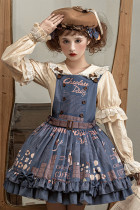 Miss Point ~Chocolate Daily Lolita Salopette -Pre-order