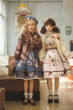 Miss Point ~Chocolate Daily Lolita Skirt -Pre-order
