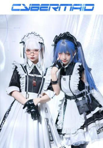 Lilith House ~Cyber Maid Maid Lolita Dresses -90cm Version II Size M&L - In Stock
