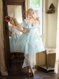 The Runaway Princess Vintage Lolita OP Short Version - Yellow XL In Stock