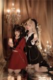 Tommy Bear ~Halloween Sweetheart Devil Fake Two-pieces Lolita OP -Pre-order