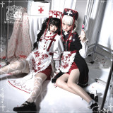 CatHighness ~Scarlet Red Cross Gothic Halloween Lolita OP
