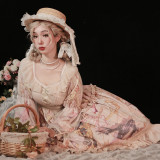 At the Beginning of the Sunrise Month Vintage Classic Lolita OP -Pre-order