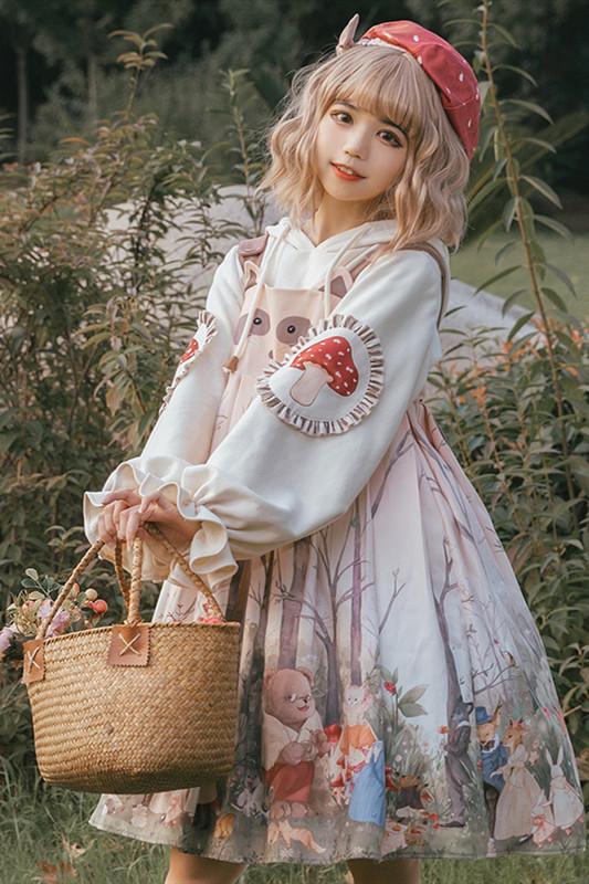 Noguri Sweet High Waist Lolita JSK/Blouse