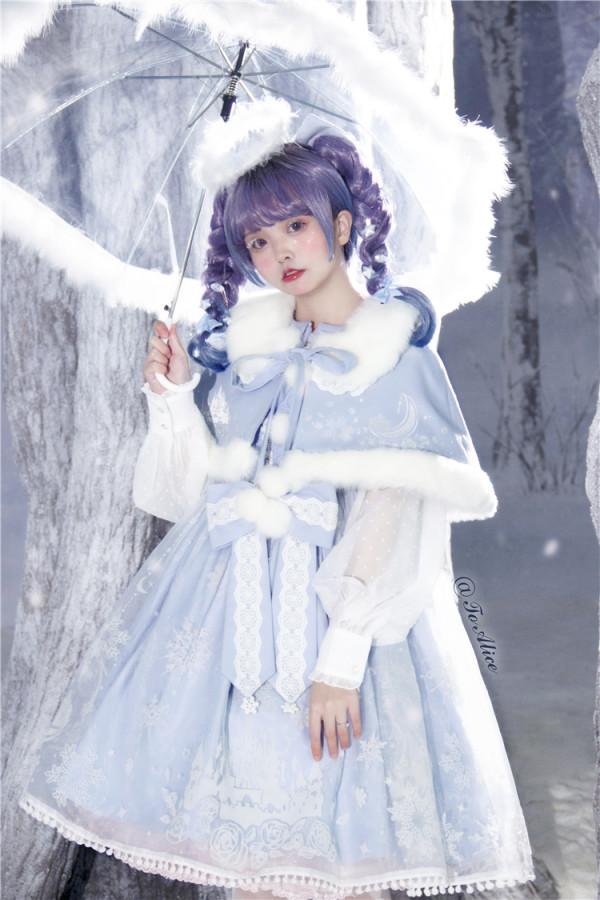 Tommy Bear ~Snow Moon Castle Lolita JSK + Cape Set -Pre-order