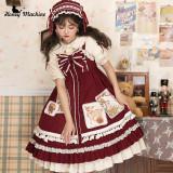 Honey Machine ~Little Red Riding Hood * Delicious Cherry Lolita JSK/Cape -Pre-order