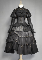 Black Fog's beloved Lolita Salopette + Blouse Set -Pre-order