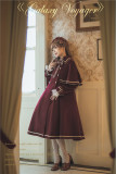 Travelers In the Milky Way Winter Lolita Coat with Detachable Cape -Pre-order