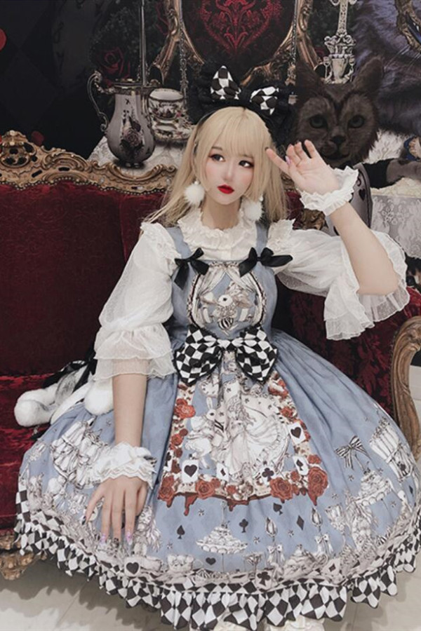 Diamond Honey ~Vintage Losing Alice Lolita JSK -Pre-order