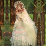 The Fireflies Floating Dream Bridal Lolita OP -Ready Made