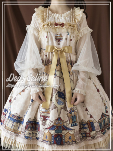 Dear Celine ~Enchanted Playground Lolita High Waist JSK -Pre-order