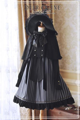 Dear Celine ~Halloween Playground Stripe Lolita OP -Pre-order
