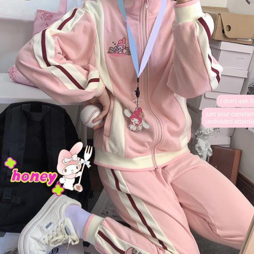 Kyouko & Sanrio Collaboration Melody Girls Spring JK Uniform Sportswear Set