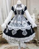 Alice Girl ~Alice~ Lace Bow Lolita OP -Pre-order Blue OP Size M - In Stock