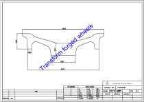 TC200007 20 Inch Forged Aluminum Raw Center Disk Blanks Drawing