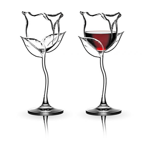 ROSE WINE GLASS (HANDMADE)-Buy 4 Free Shipping