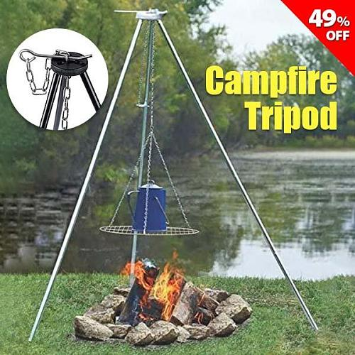 Campfire Tripod- Essential outdoor kitchen accessory【BUY 2 FREE SHIPPING】