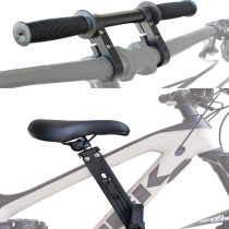 Front Mounted Child Bike Seat+Bike Aluminum Double Stents