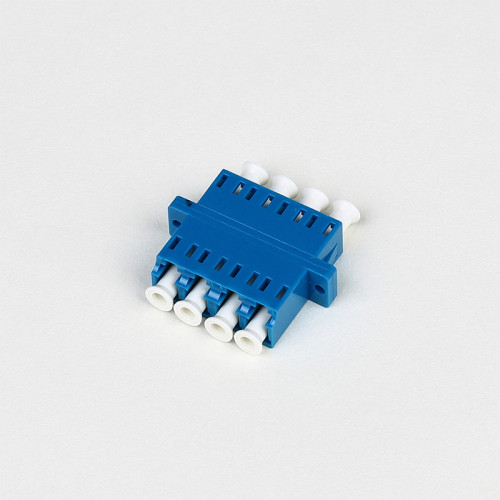 LC-UPC SM Quad Fiber Optic Adapter