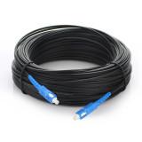 SC-SC UPC SM Drop Cable Patch Cord  G657a Black LSZH 5.2X2mm 1 core 100-500m