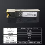 Gigabit RJ45 SFP Module 1000Mbps SFP Copper SFP Transceiver Module Compatible with Cisco/Mikrotik Gigabit Ethernet Switch