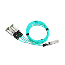 100G QSFP28 to 4xSFP28 AOC Fiber Cable 1m 3m 5m 7m 10m 20m MPO SFP Module OM3 OM4 Active Optical Cable