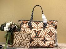 1:1 original leather louis vuitton neverfull bag MM monogram M44676 00002 top quality