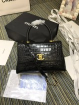 1:1 original leather Chanel coco handle tote shoulder bag A93050 00032 top quality