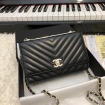1:1 original leather Chanel woc cross body bag shoulder bag sale #80982 00055 top quality
