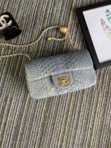 1:1 original leather Chanel mini CF shoulder handbag cross body bag S1787 00063 top quality
