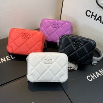 1:1 original leather Chanel small case cross body bag shoulder bag AP1132 00062 top quality