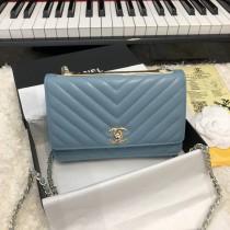 1:1 original leather Chanel woc cross body bag shoulder bag sale #80982 00053 top quality