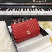 1:1 original leather Chanel woc cross body bag shoulder bag sale #80982 00054 top quality