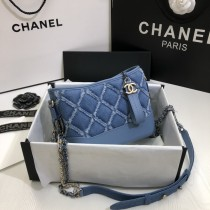 1:1 original leather Chanel Gabrielle bag hobo bagcross body bag 20cm 00098 top quality