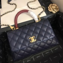 1:1 original leather Chanel coco handle tote shoulder bag 00101 top quality