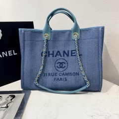 1:1 original leather Chanel tote shoulders bag beach bag 00111 top quality