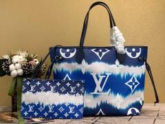 1:1 original leather Louis Vuitton totes bag LV escale neverfull MM M45128 00156 top quality