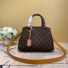 1:1 original leather Louis Vuitton tote bag montaigne BB M45311/M44671 00175 top quality