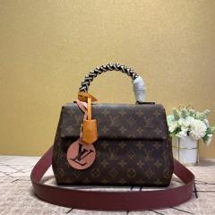 1:1 original leather Louis Vuitton tote bag pochette metis M43982 00172 top quality