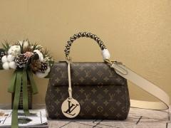 1:1 original leather Louis Vuitton tote bag pochette metis M43982 00171 top quality