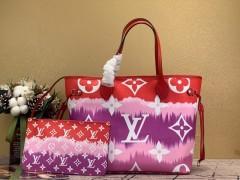 1:1 original leather Louis Vuitton totes bag LV escale neverfull MM M45128 00157 top quality