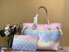 1:1 original leather Louis Vuitton totes bag LV escale neverfull MM M45128 00158 top quality