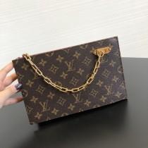 1:1 original leather Louis Vuitton clutch bag M50154 00229 top quality
