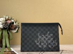 1:1 original leather Louis Vuitton tote shoulder bag bond street N41071 00330 top quality