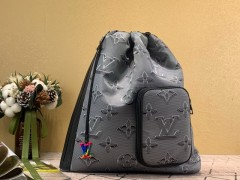 1:1 original leather Louis Vuitton tote bag with strap skyline PM N60297 00338 top quality
