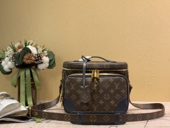 1:1 original leather Louis Vuitton tote bag with strap skyline PM N60297 00339 top quality