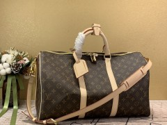 1:1 original leather Louis Vuitton tote travel bag keepall 45 M41418 00398 top quality