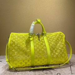 1:1 original leather Louis Vuitton tote travel bag keepall bandouliere 50 M53971/M53271 00401 top quality